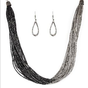 Two Tone Beaded Necklace Set